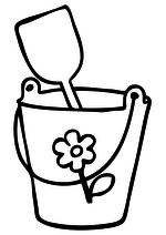 Раскраска Ведёрко с лопаткой
