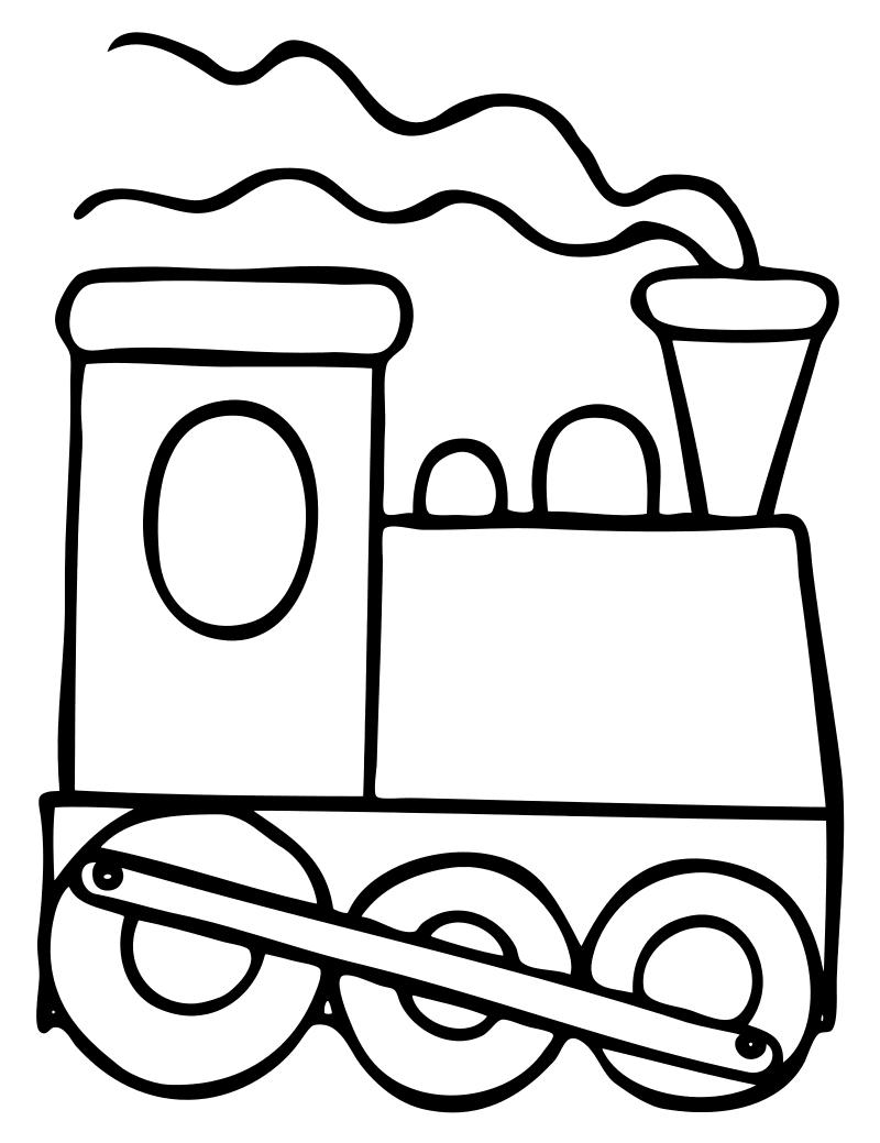 Раскраска Паровоз
