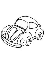 Раскраска Автомобиль Фольксваген Жук