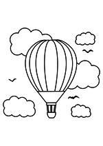 Раскраска Воздушный шар в полёте
