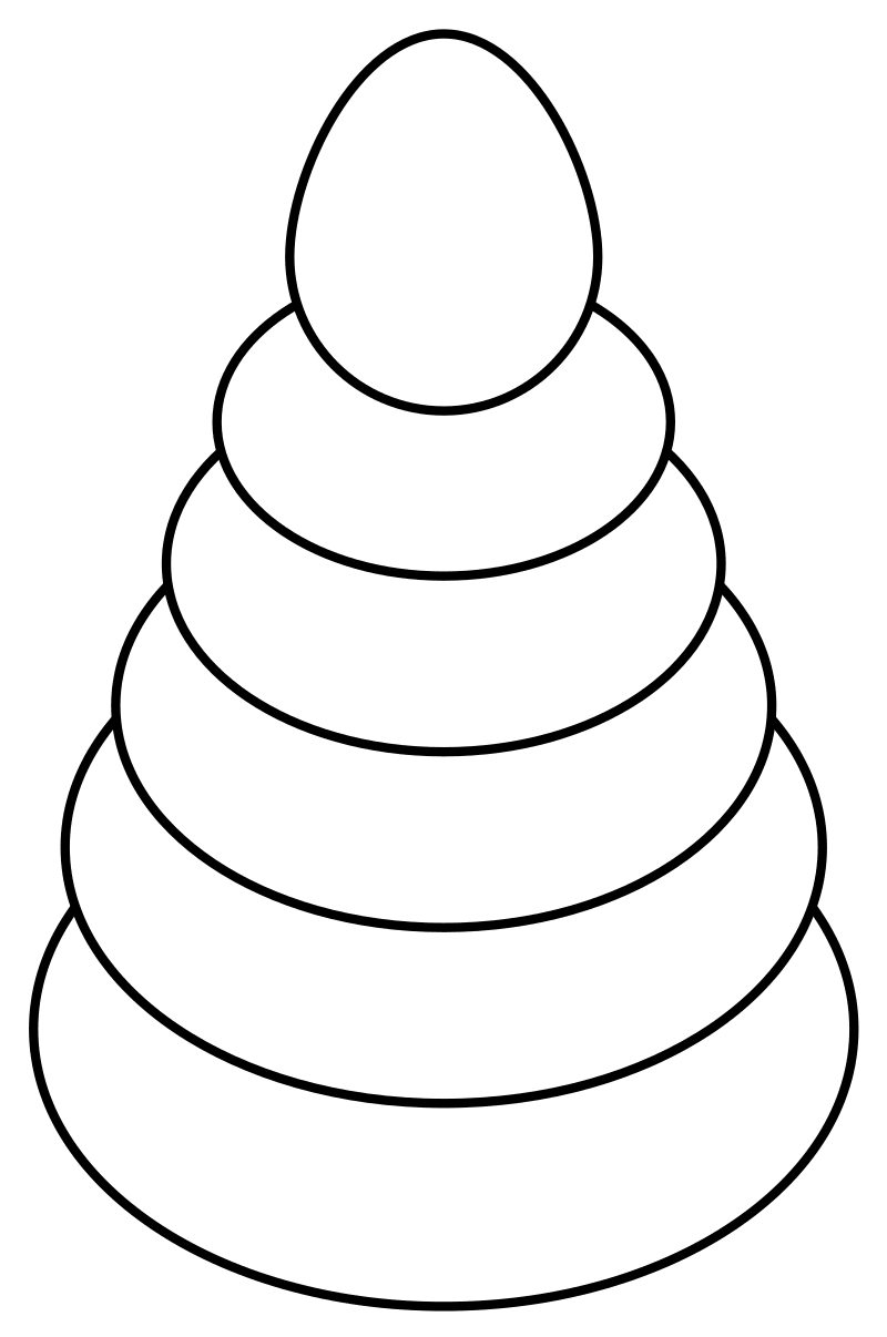 Раскраска Игрушечная пирамидка