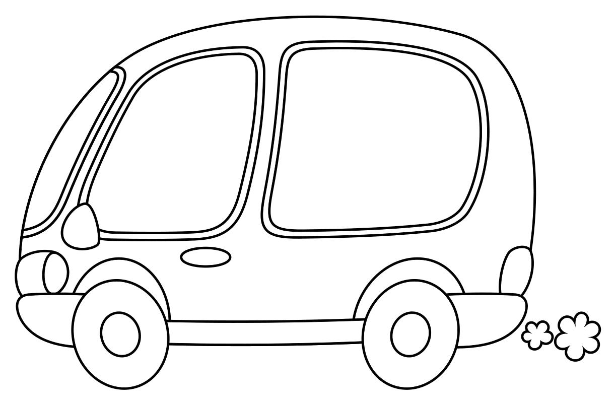 Раскраска Микроавтобус