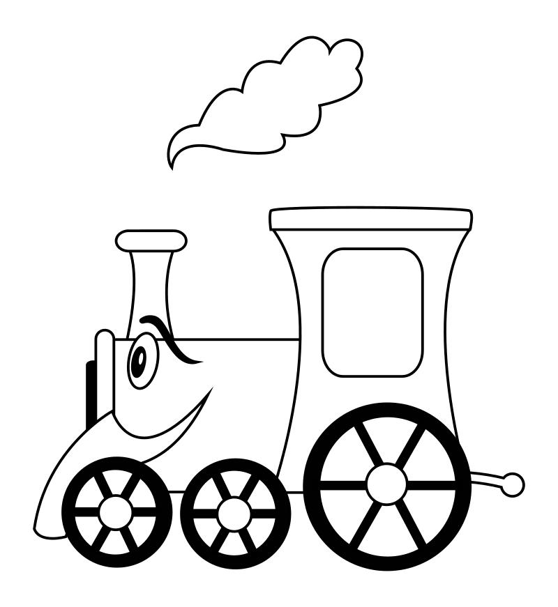 Раскраска - Малышам - Паровозик