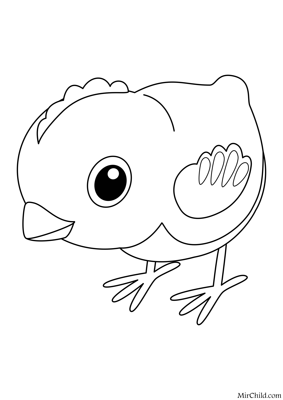 Раскраска - Малышам - Цыплёнок | MirChild