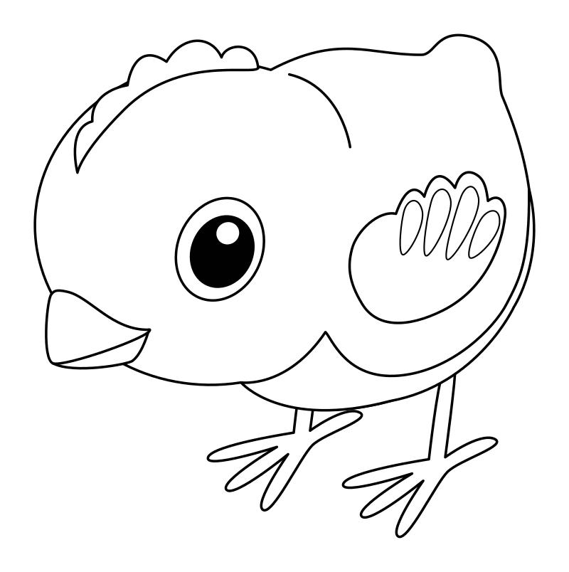 Раскраска - Малышам - Цыплёнок