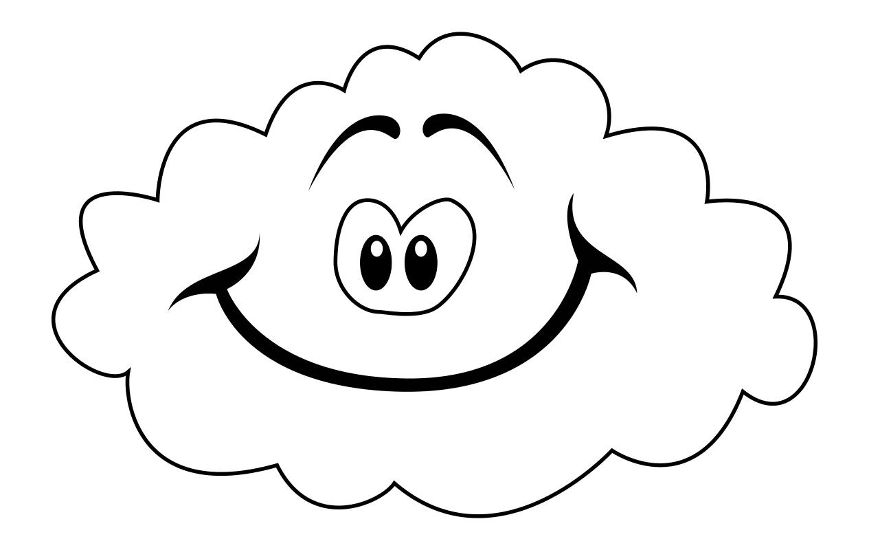 Раскраска - Малышам - Весёлое облако