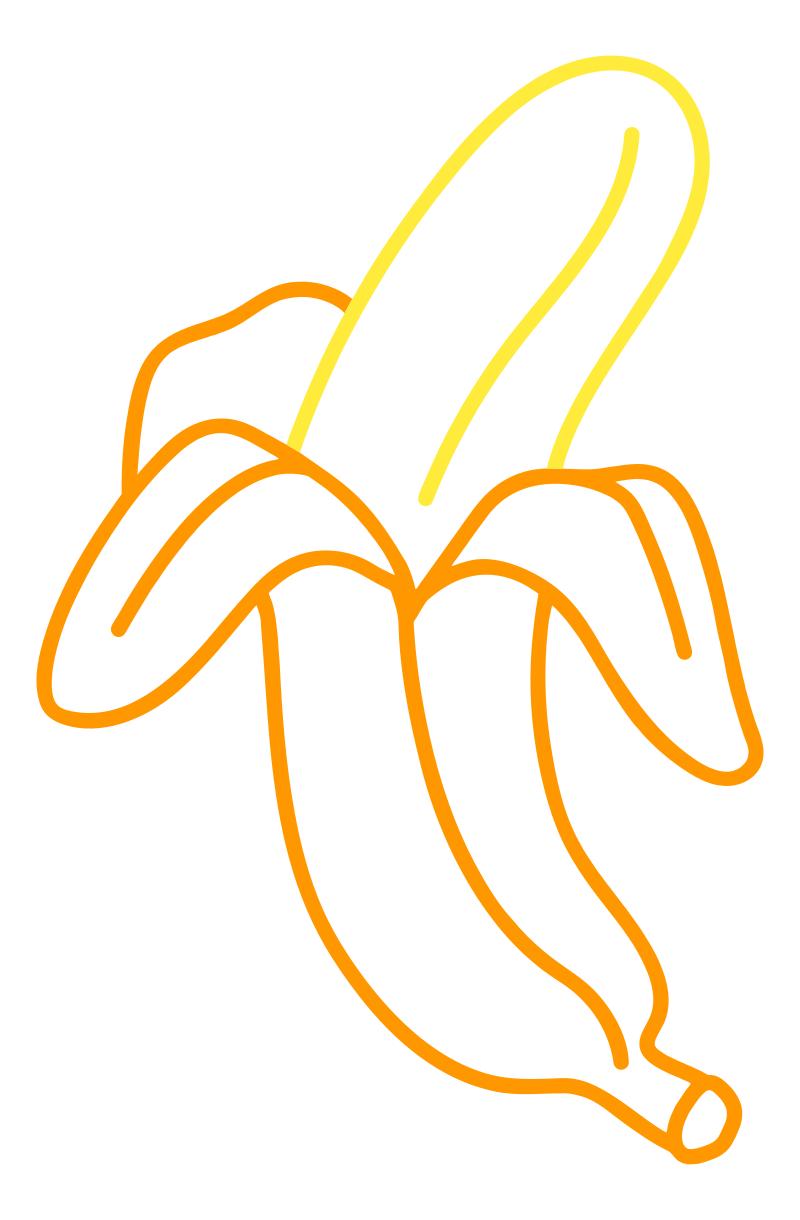 Раскраска - Малышам - Банан