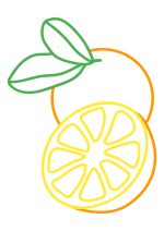 Раскраска - Малышам - Апельсин