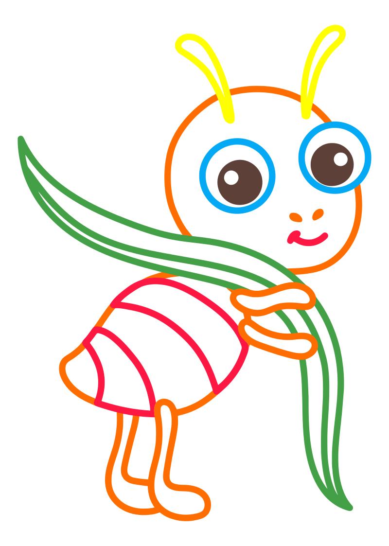 Раскраска - Малышам - Муравей