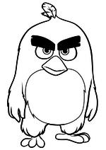 Раскраска - Angry Birds в кино - Ред