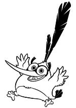 Раскраска - Angry Birds в кино - Бабблз