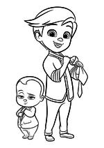 Раскраска - Босс - молокосос - Малыш и Тим Темплтон