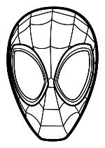 Раскраска - Человек-паук: Через вселенные - Маска человека-паука