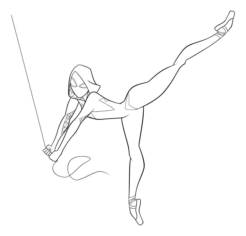 Раскраска - Человек-паук: Через вселенные - Гвен Стейси ...