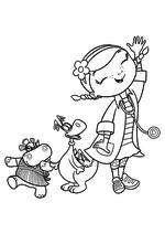 Раскраска Хэлли, Стаффи и Дотти