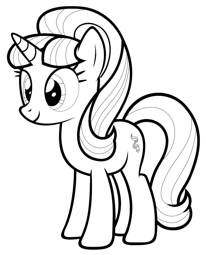 Раскраска - Мой маленький пони: Дружба – это чудо - Старлайт Глиммер