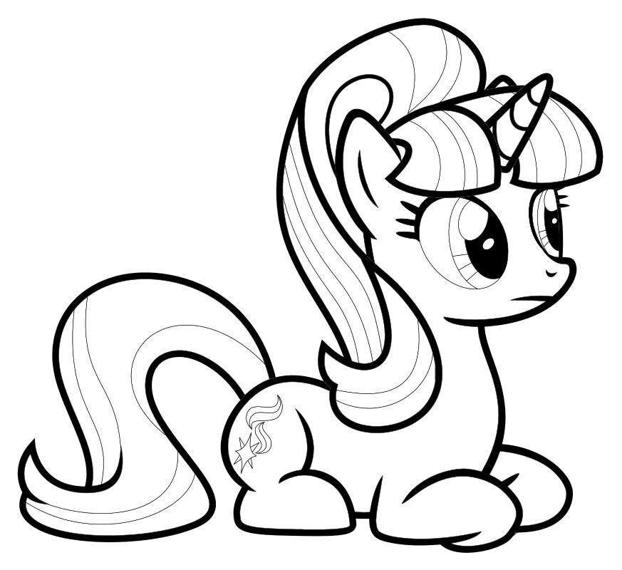 Раскраска - Мой маленький пони: Дружба – это чудо - Грустная Старлайт Глиммер