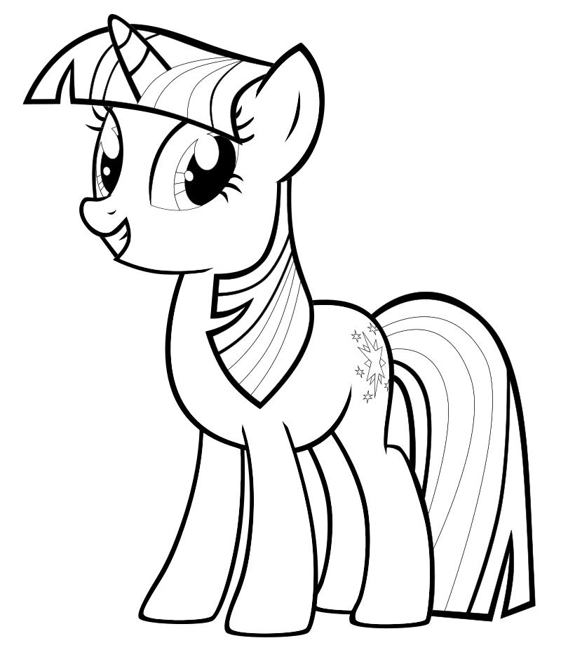 Раскраска - Мой маленький пони: Дружба – это чудо - Сумеречная Искорка