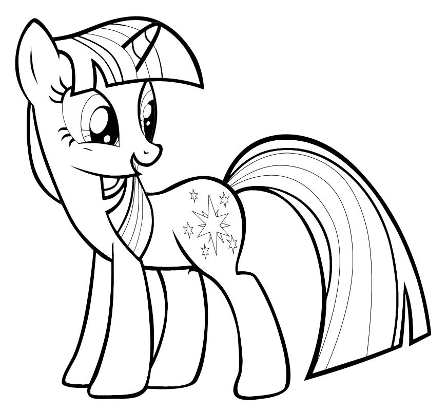 Раскраска - Мой маленький пони: Дружба – это чудо - Сумеречная Искорка обернулась