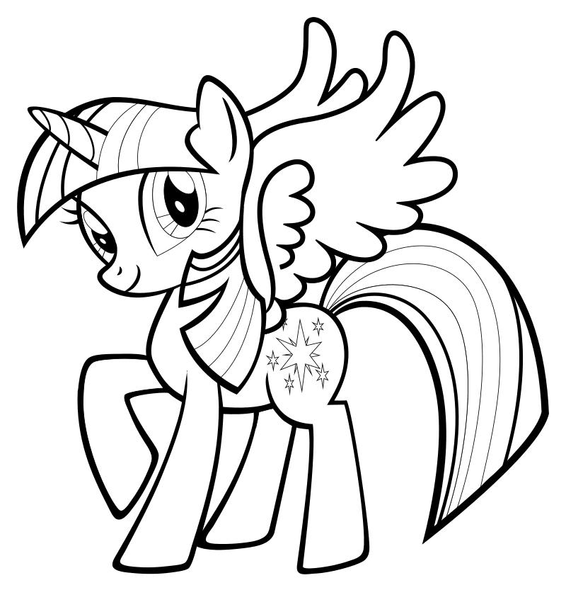 фото раскраска пони