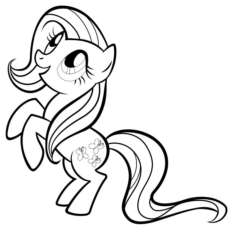 Раскраска - Мой маленький пони: Дружба – это чудо - Флаттершай