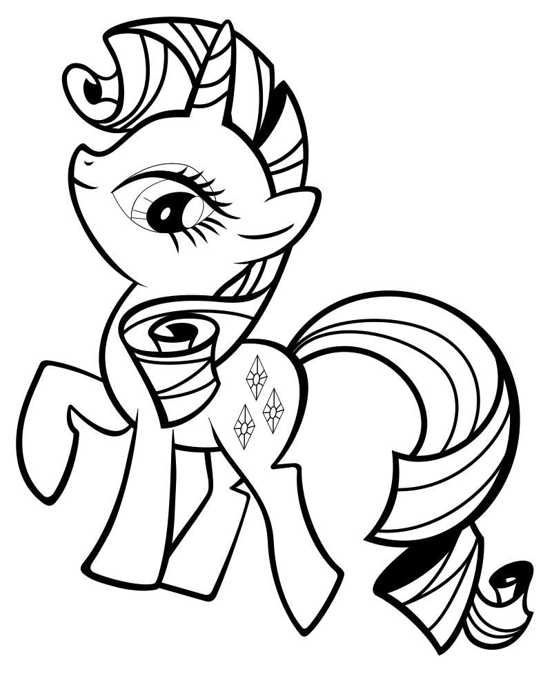 Раскраска - Мой маленький пони: Дружба – это чудо - Рарити