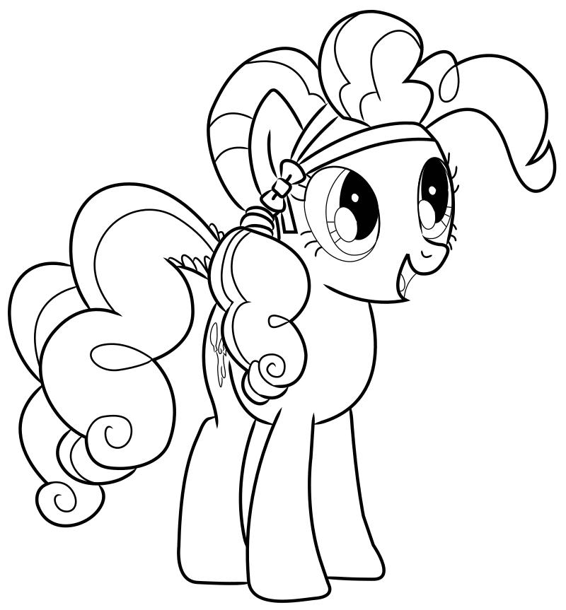 Раскраска - Мой маленький пони: Дружба – это чудо - Пинки Пай с бантиком