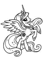 Раскраска - Мой маленький пони: Дружба – это чудо - Принцесса Селестия