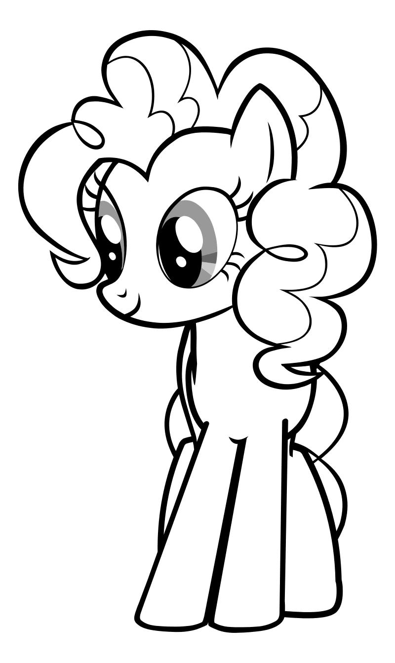 Раскраска - Мой маленький пони: Дружба – это чудо - Скромная Пинки Пай