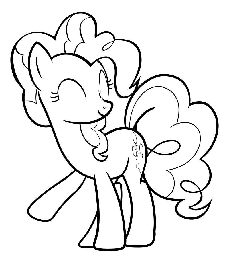 Раскраска - Мой маленький пони: Дружба – это чудо - Пинки Пай закрыла глаза