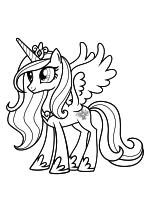 Раскраска - Мой маленький пони: Дружба – это чудо - Принцесса Каденс