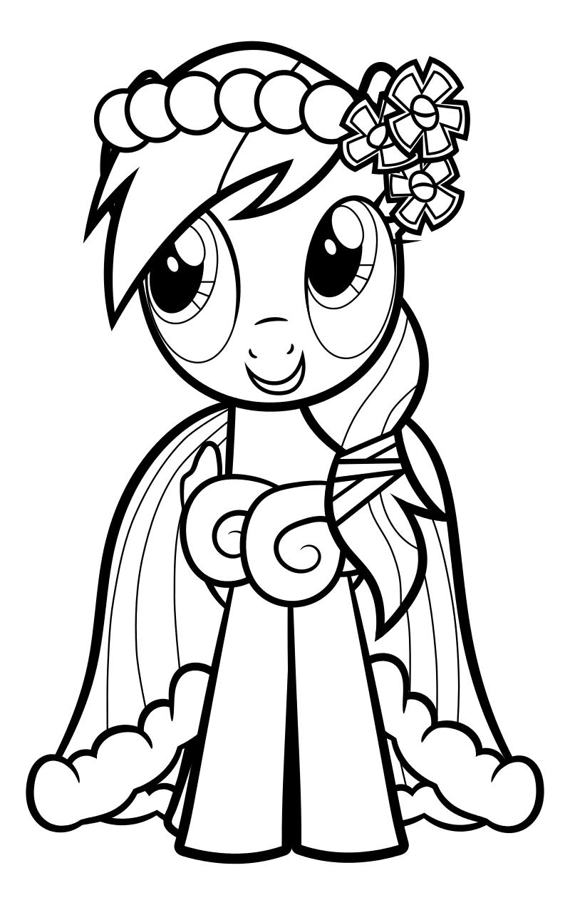 Раскраска - Мой маленький пони: Дружба – это чудо - Радуга ...