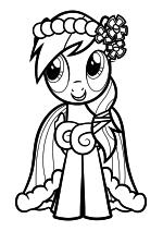 Раскраска - Мой маленький пони: Дружба – это чудо - Радуга Дэш - Свадьба в Кантерлоте