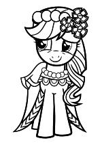 Раскраска - Мой маленький пони: Дружба – это чудо - Эпплджек - Свадьба в Кантерлоте