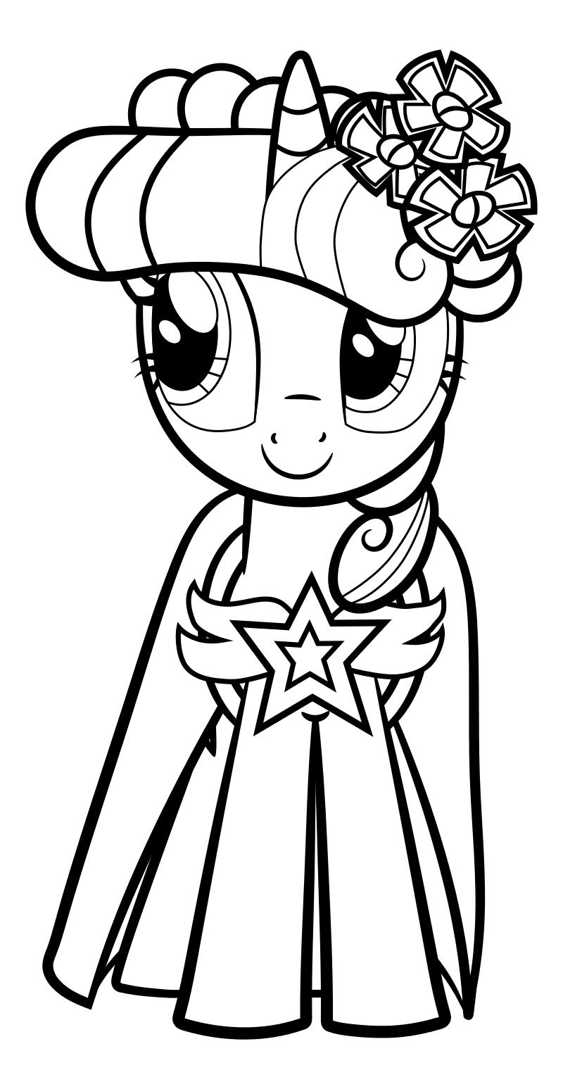 Раскраска - Мой маленький пони: Дружба – это чудо - Сумеречная Искорка - Свадьба в Кантерлоте