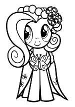 Раскраска - Мой маленький пони: Дружба – это чудо - Флаттершай - Свадьба в Кантерлоте