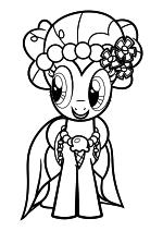 Раскраска - Мой маленький пони: Дружба – это чудо - Пинки Пай - Свадьба в Кантерлоте