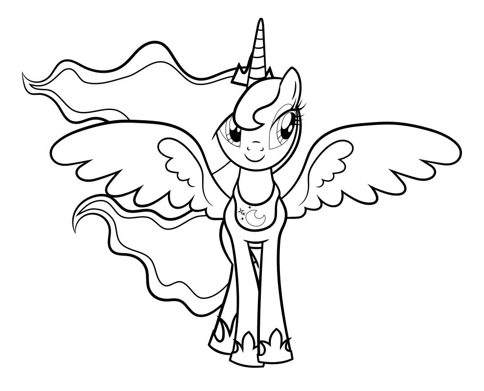 Раскраска - Мой маленький пони: Дружба – это чудо - Принцесса Селестия - Свадьба в Кантерлоте