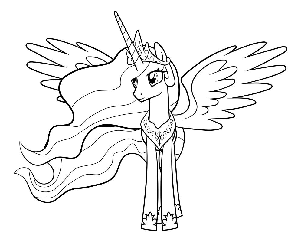 Раскраска - Мой маленький пони: Дружба – это чудо - Принцесса Луна - Свадьба в Кантерлоте