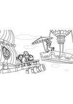 Раскраска - Джейк и пираты Нетландии - Няня Нелл