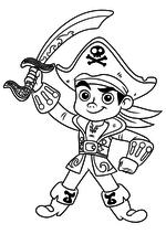 Раскраска - Джейк и пираты Нетландии - Капитан Джейк