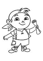 Раскраска - Джейк и пираты Нетландии - Кабби с картой