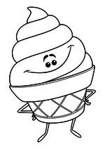 Раскраска - Эмоджи фильм - Мороженое