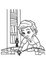Раскраска - Фиксики - Нолик показывает ДимДимычу разрыв в рельсах