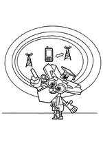 Раскраска - Фиксики - Дедус рассказывает о сотовой связи