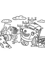 Раскраска - Город Грузовиков - Джэк и Дэн разгружают мусор