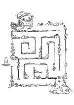 Раскраска - Город Грузовиков - Лабиринт - помоги Джеку найти конус