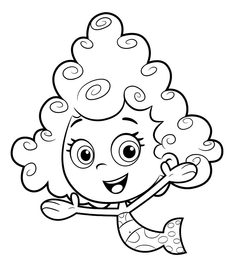 Раскраска - Гуппи и пузырики - Дина