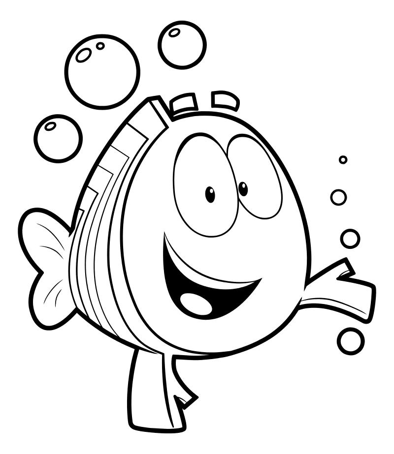 Раскраска - Гуппи и пузырики - Мистер Группер