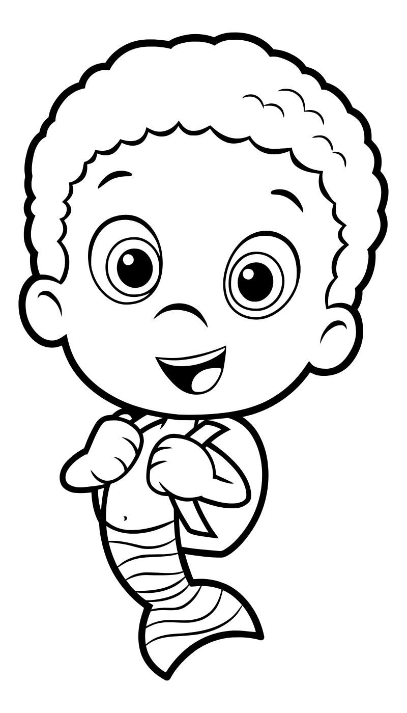 Раскраска - Гуппи и пузырики - Гоби со школьным ранцем